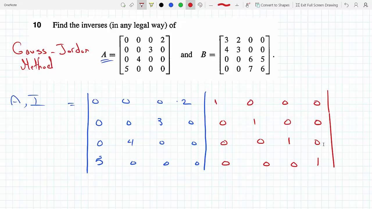 Solving Systems Of Linear Equations Using Matrix Inverse