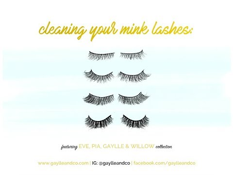 8260c518322 How to Clean Your Mink Lashes   Gaylle and Co - YouTube