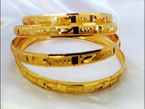 c12b0abddd6639 22CT LATEST GOLD BANGLES DESIGNS || New model gold bangle collections