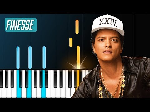 "Bruno Mars - ""Finesse"" Piano Tutorial - Chords - How To Play - Cover"