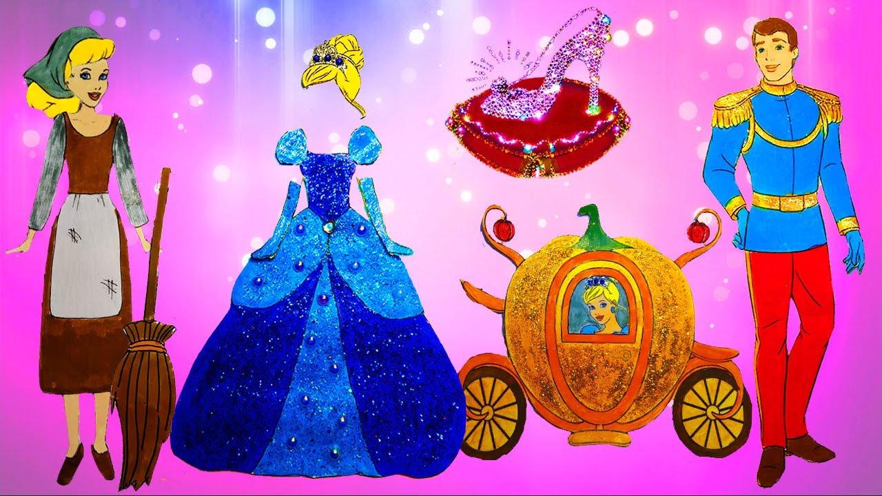 Cinderella Handmade Queit book Paper Doll dresses up