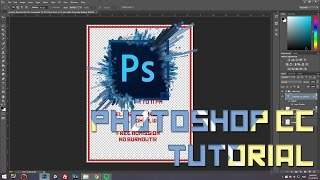 how to create a simple poster in Photoshop CC