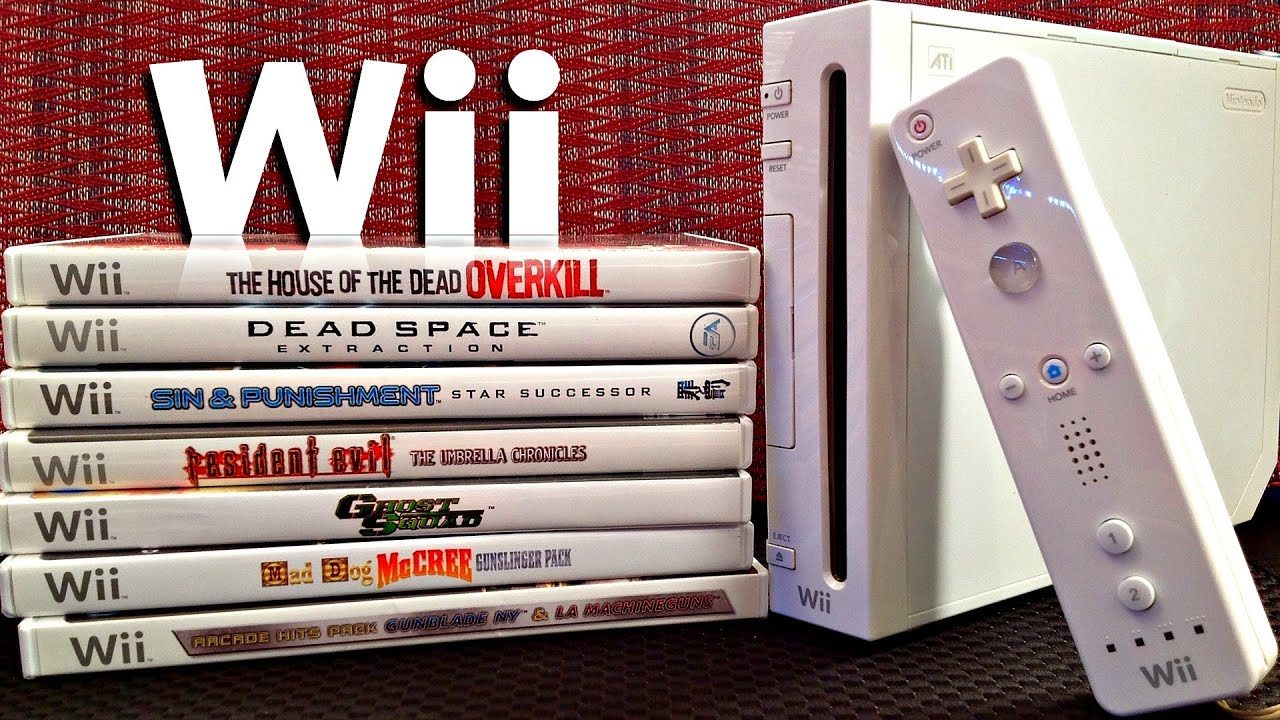 Wii On-Rail Light Gun Shooter Games