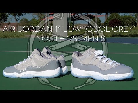 Air Jordan 11 Low 'Cool Grey' | YOUTH vs MEN's
