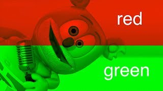 Learn CHRISTMAS Colors RED And GREEN With Gummibär * The Gummy Bear Song * Colors For Kids