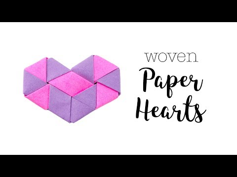 Origami Woven Paper Hearts Tutorial - Valentine's DIY - Paper Kawaii