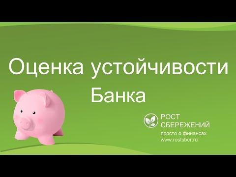 Оценка устойчивости банка