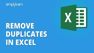 Remove Duplicates In Excel   How To Remove Duplicates In Excel   Excel Basics Tutorial   Simplilearn