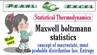 Easy Way To Understand Maxwell Boltzmann Statistics Along With Concept Of Macrostate.