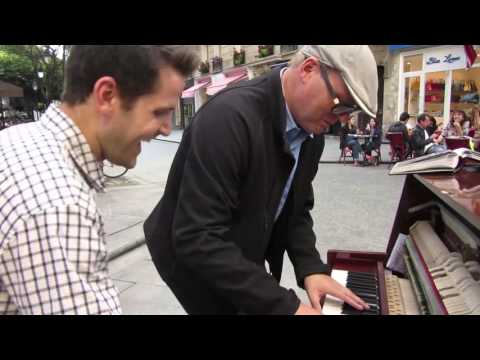 Spontaneous Jazz duet on Street Piano in Paris #1 with Frans Bak