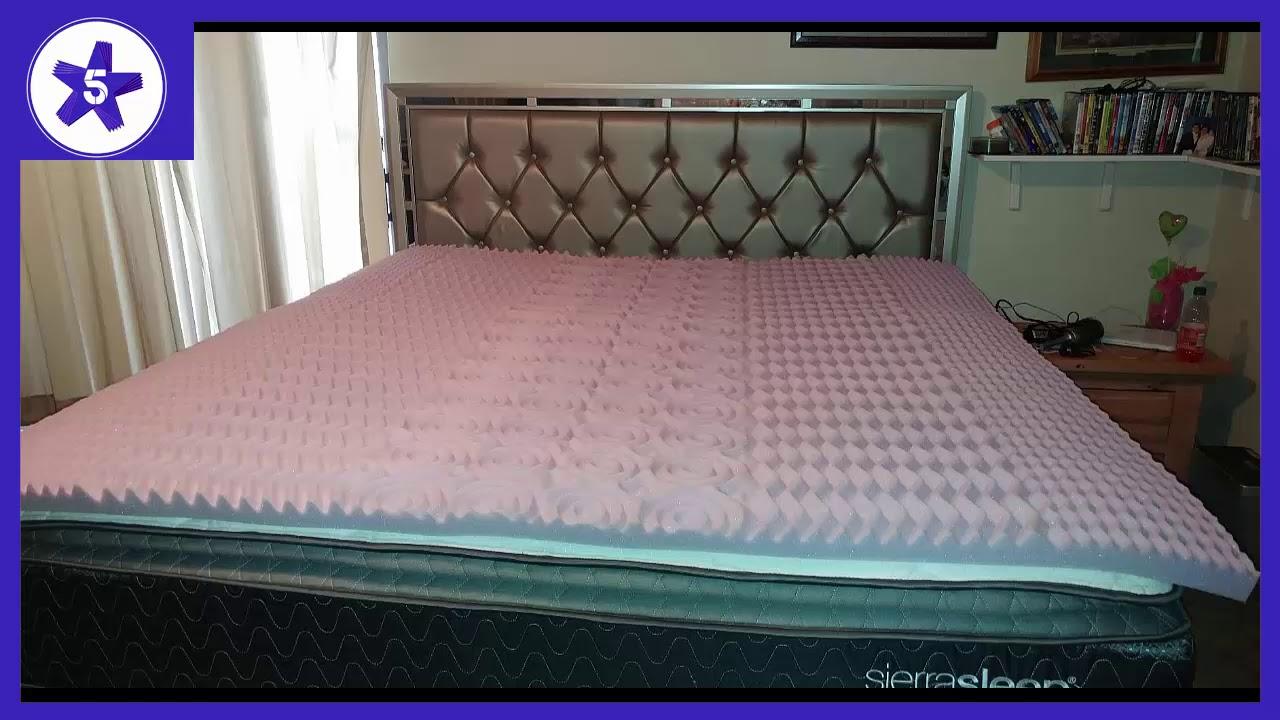 2 inch memory foam mattress topper queen LUCID 2 inch 5 Zone Lavender Memory Foam Mattress Topper Review  2 inch memory foam mattress topper queen