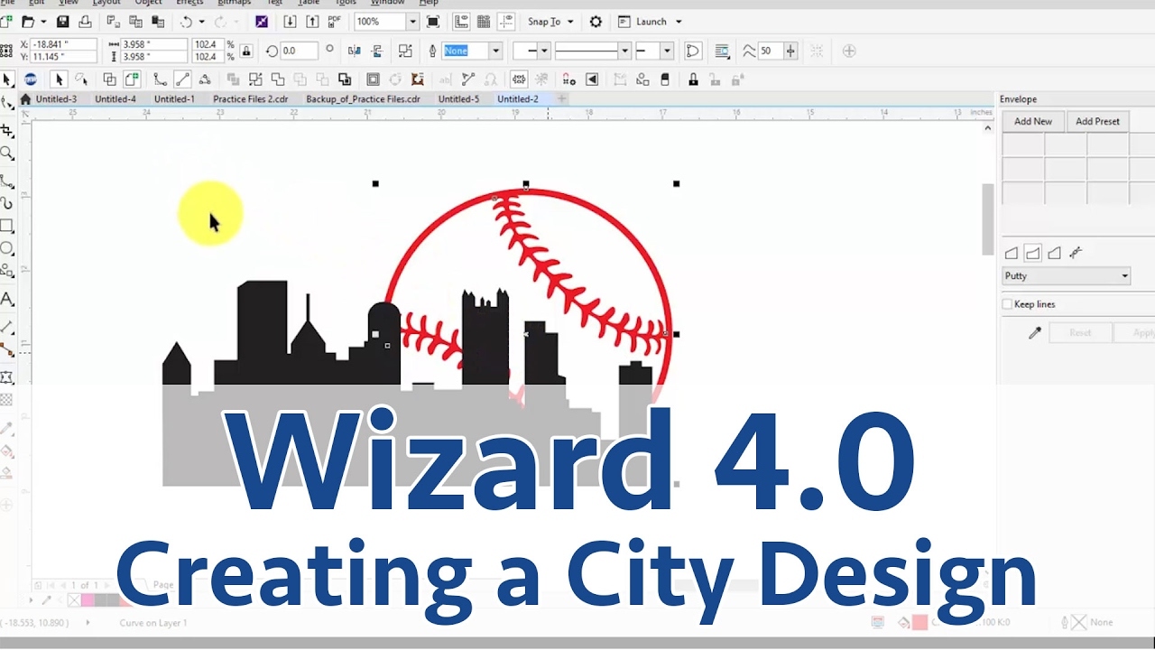 Creating a City Scape Design Using CorelDraw and the TRW Design Wizard