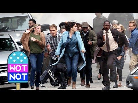 Sandra Bullock Films Post Apocalyptic Thriller Bird Box In La Youtube