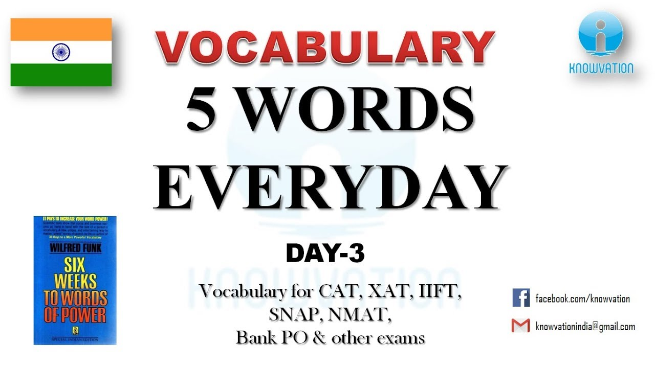 Learn 5 New Words Everyday & use in a sentence | Day-3 | English Vocabulary  for competitive exams