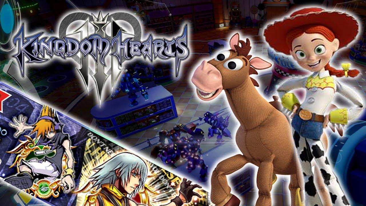 Kingdom Hearts 3 Toy Story Jessie  Bullseye Confirmed TWEWY 10th