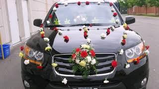 украшение машин на свадьбу цветами своими руками
