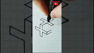optical illusions drawings | 3d draẁing easy | how to draw 3d illusions | drawing optical illusions