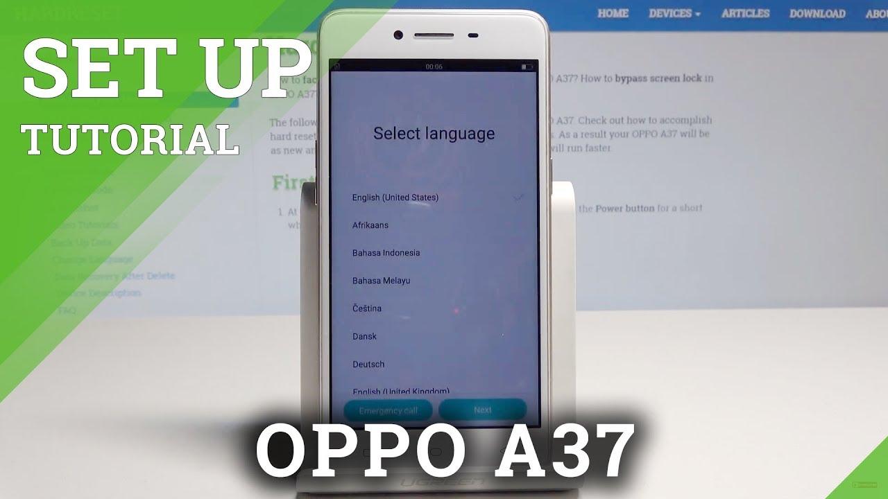 Resetting Videos OPPO A37 - HardReset info