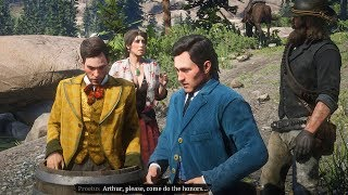 Red Dead Redemption 2 - Kicking Brothers Off Waterfall In Barrels (Twin Brothers Final Quest)