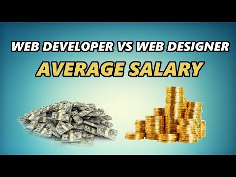 Web Developer vs Web Designer Average Salary
