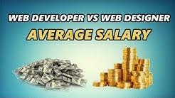 Web Developer vs Web Designer Average Salary