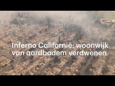 Inferno in Californië: woonwijk van aardbodem verd - RTL NIEUWS