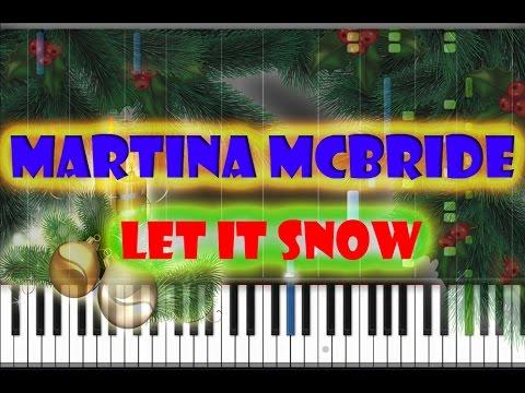 Martina McBride - Let It Snow Piano Cover [Synthesia Piano Tutorial]
