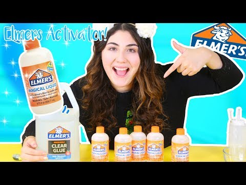 ELMERS MAGICAL LIQUID (ELMERS SLIME ACTIVATOR) Testing out elmers new products | Slimeatory #243