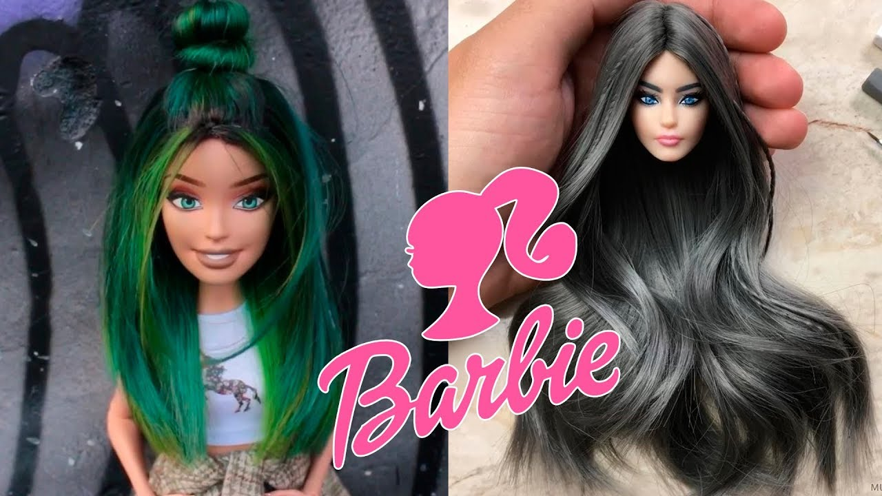 💇 BEST BARBIE HAIRSTYLE 2018 👧 Barbie Hair Tutorial And Color  Transformation😱