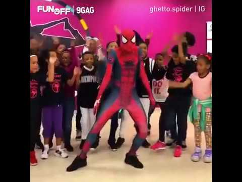 Spidey picking up the 80s vibes by Ghetto.spider   9GAGFunOff