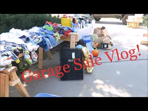 Garage Sale Vlog! 13 Tips for hosting your own sale!
