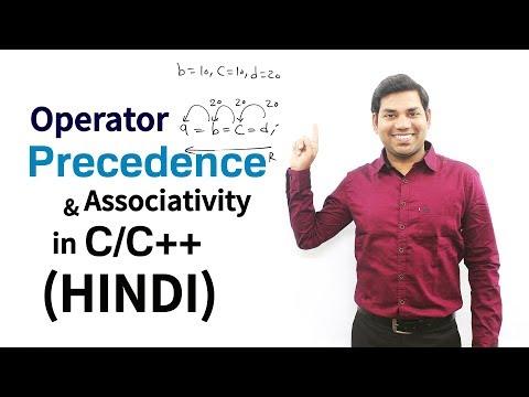 Operator Precedence And Associativity in C/C++ (HINDI)