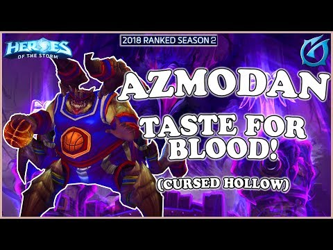 Grubby | Heroes of the Storm - Azmodan - Taste for Blood! - Quick Match - Cursed Hollow