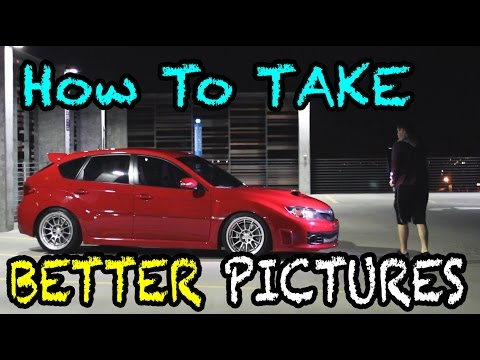 How to Take PICTURES of CARS!