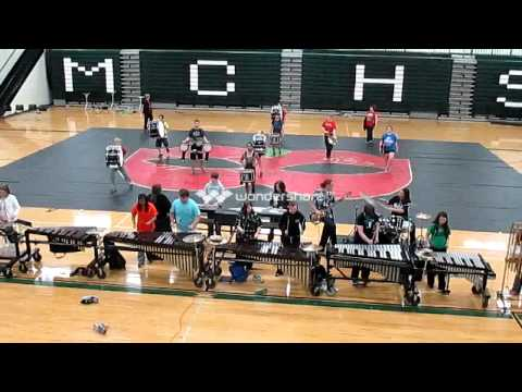 Murray County High School Indoor Drumline - Masque 2013