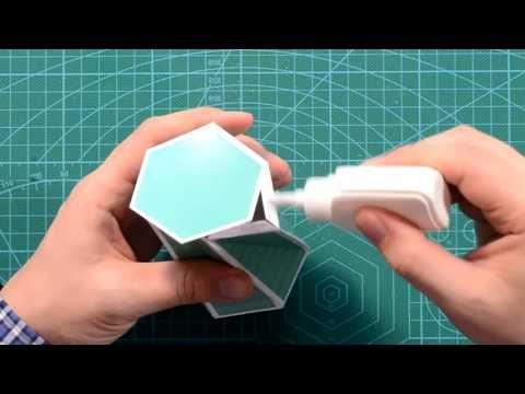 Twisted Hexagonal Prism DIY, Видеоинструкция: как сделать закрученную шестиугольную призму