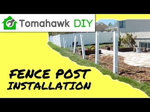 How To Install Vinyl Fence Posts (Picket Fence Series, Part 1)