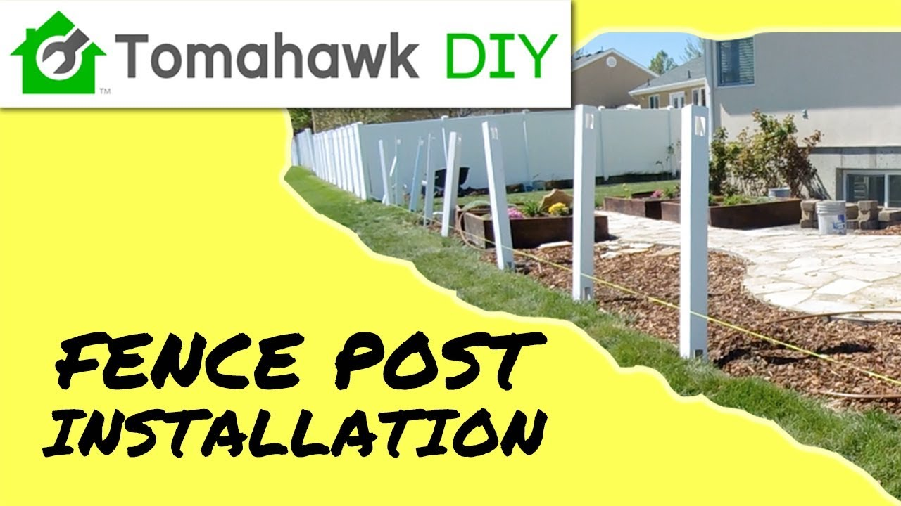How To Install Vinyl Fence Posts Picket Fence Series Youtube