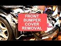 BMW Z3 M Roadster front bumper cover removal