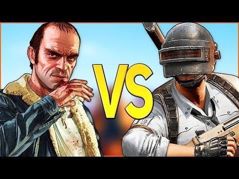 PUBG VS GTA 5 | СУПЕР РЭП БИТВА | Пабг PlayerUnknown's Battlegrouds ПРОТИВ Гта V Online