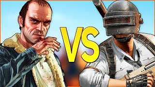 PUBG VS GTA 5 | СУПЕР РЭП БИТВА | Пабг PlayerUnknown's Battlegrouds ПРОТИВ Гта V Online