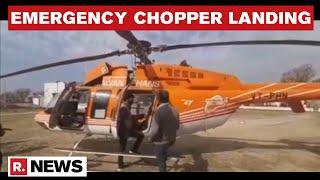 Chopper Makes Emergency Landing In J\u0026K's Reasi Due To Technical Glitches
