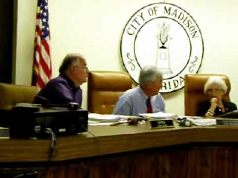 Madison Florida City Commission Meeting Nov. 8, 2011