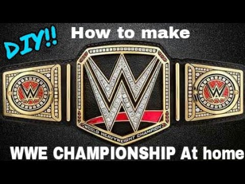 How to make WWE CHAMPIONSHIP at Home || SUMIT VINES