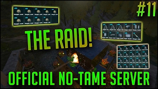 THE BIG RAID! | Official PvP No-Tame Server w/ EXFIB0 | S2E11 | ARK Survival Evovled Let's Play