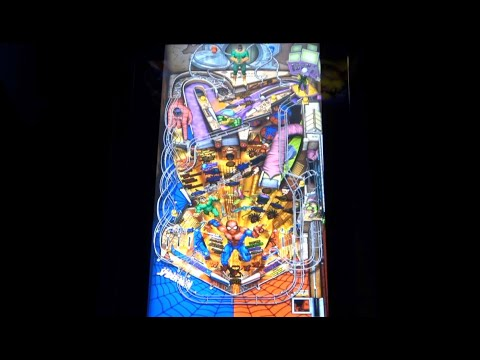 The Amazing Spider Man Gameplay   Arcade1Up Marvel Pinball from Original Console Gamer