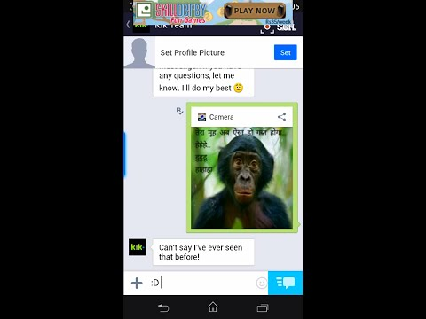 how to send fake live camera on kik