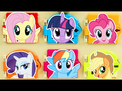 My Little Pony Color Door Game with Toy Surprises Mystery Toys |