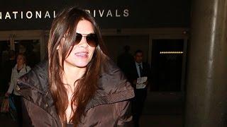 Danielle Vasinova Is All Smiles Arriving In LA For The Golden Globes