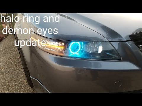 ACURA TL HALO RING DEMON EYES AND SEQUENTIAL LED SWITCHBACK UPDATE
